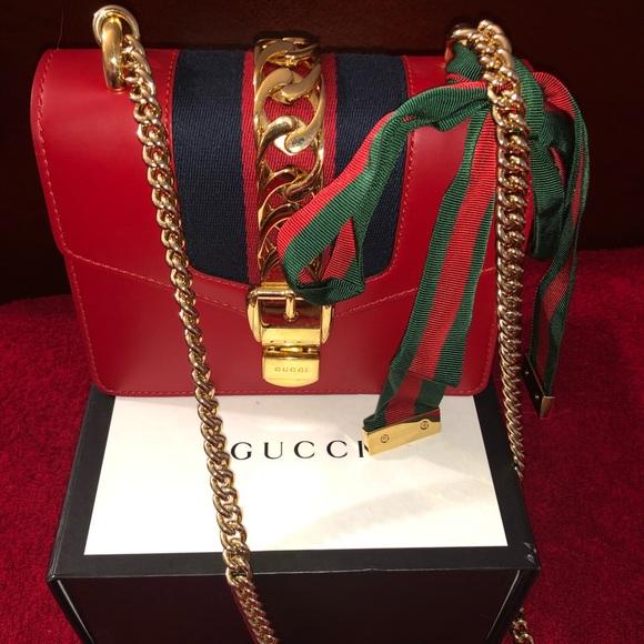 b4b6e960e3 Gucci Bags | Sylvie Leather Mini Chain Bag | Poshmark